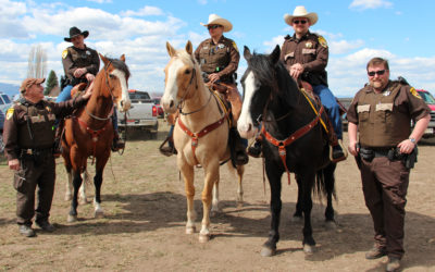 Posse Provides Crowd Control at Annual Auction